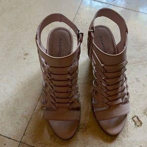 Rampage block heels caged sandals